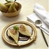almond stuffed pears with chocolate sauce