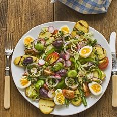 salade niçoise végétarien