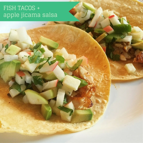 fish tacos with apple jicama salsa