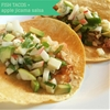 fish tacos with apple jicama salsa