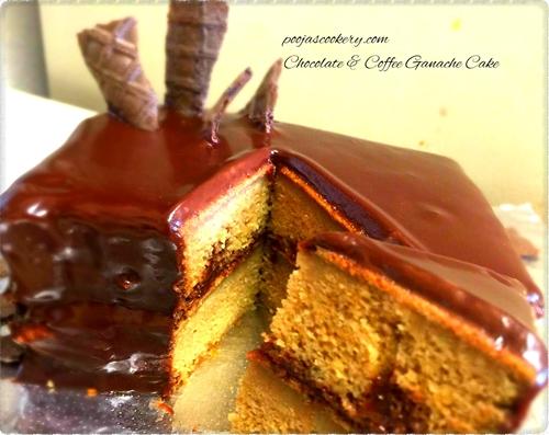 Chocolate & Coffee Ganache Cake