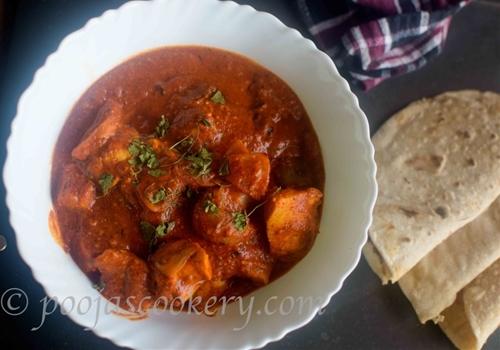 Chicken Tikka Masala using Instant Red curry premix