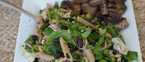 Pasta salad with chicken N Greens
