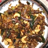 Sri Lankan Pan Fried Leeks and Dried Sprats ( Leeks