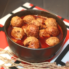 Sri Lankan Style Hot Meat Balls Curry (Meat Balls Mirisata)