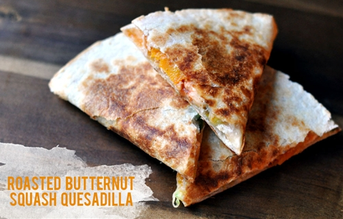 Roasted Butternut Squash Quesadillas