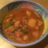 Roast pork & vegetable soup