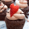 Paleo Chocolate Cupcakes with a Strawberry Buttercream