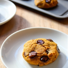 Vegan Chocolate Chip Pumpkin Cookies
