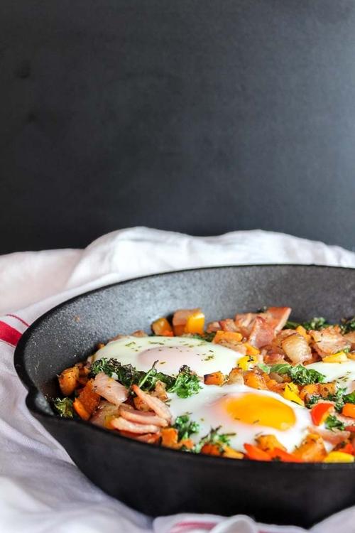 Bacon Kale & Sweet Potato Hash