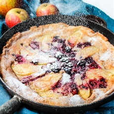 Blackberry & Apple Paleo Dutch Baby