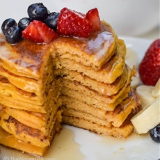 Super Moist Pumpkin Pancakes