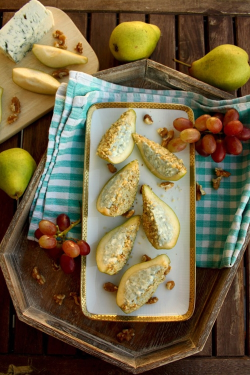 Pears and Blue Cheese Appetizer