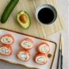 Creamy Avocado Salmon Philadelphia Sushi Rolls