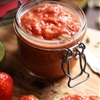 Rhubarb Chutney with Strawberries and Ginger