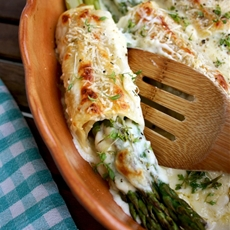 Baked Asparagus Cannelloni