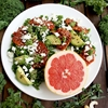 Kale Salad with Caramelized Grapefruit, Avocado, Feta & Pesto Dressing
