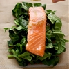Easy Parchment Salmon with Spinach