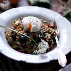 Spring Brown Rice Risotto with Asparagus