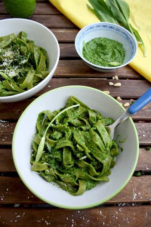 Easy Green Pesto Pasta