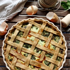 The Best Rustic Ricotta Spinach Quiche