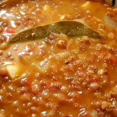Gorgeous lentil soup