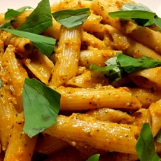 Penne with Red Pepper Pesto