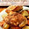 Roasted Chicken Thighs with Potatoes and Vegetables