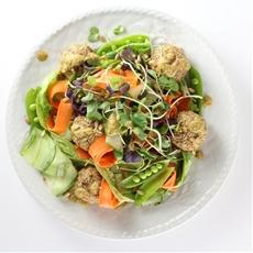 Vegetarian Meatballs With Tahini Sauce