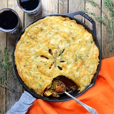 Cottage Beef Pot Pie with Potatoes and Parsnips