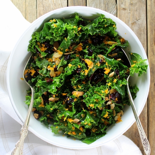 Kale Orange Cranberry Salad