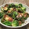 Sautéed Brussels Sprouts With Asiago Cheese