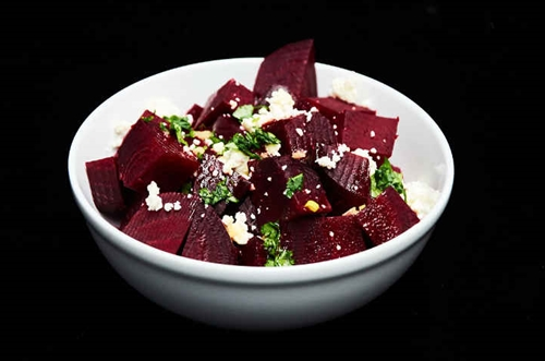 Beet Salad with Feta Cheese and Citrus Balsamic Viniagrette