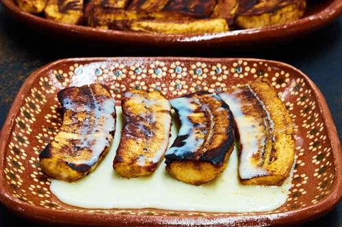 Pan Fried Bananas with Lechera