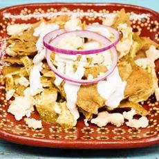 Chilaquiles Verdes with Chicken