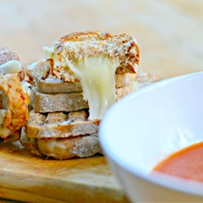 Mini Meatball Panini Sandwiches