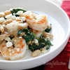 Tuscan White Beans with Spinach, Shrimp and Feta