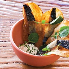 Sardine Chips With Horseradish Crme Frache