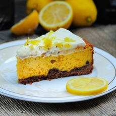Pumpkin Cheesecake with Lemon Cream