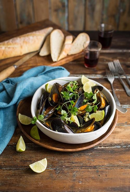Creamy masala mussels