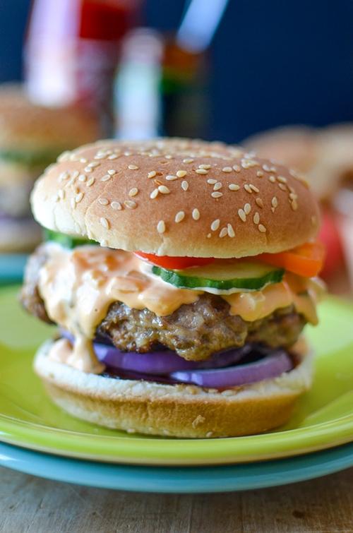 Spicy Hoisin Burgers