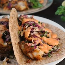 Blackened Fish Tacos with Cilantro Slaw and Sriracha Mayo + Weekly Men