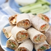 Buffalo Hummus Chicken Salad Roll Ups