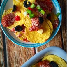 Light Mexican nachos