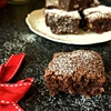 Indulgent chocolate brownies with walnuts
