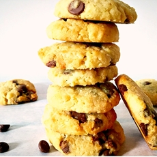 Lemon coconut chocolate chip cookies