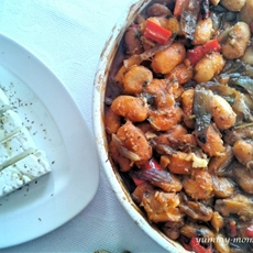 Greek Giant Beans (Gigandes Plaki)