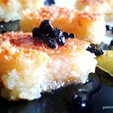 Greek moist semolina cake (Revani)
