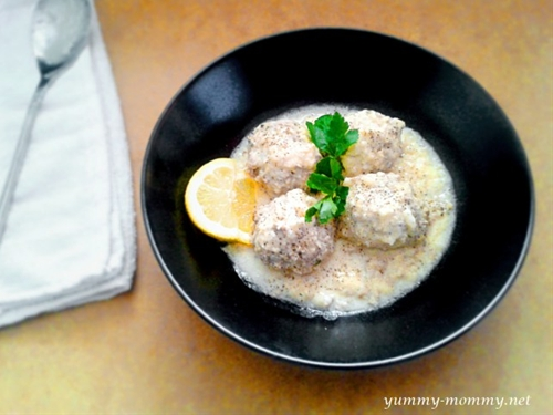 Giouvarlakia (Greek Meatball Soup)