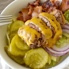 Bacon Cheeseburger Salad w/ BigMac Dressing